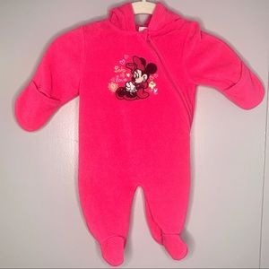 Disney Baby Minnie Mouse Fleece Onesie 0-3